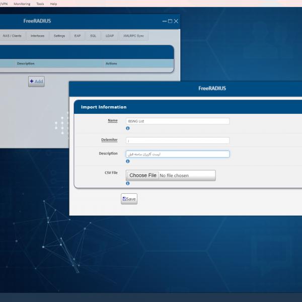 پنل مدیریت ایجاد کاربران از طریق فایل ورودی