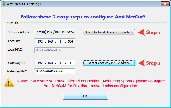 Anti NetCut3 firewall