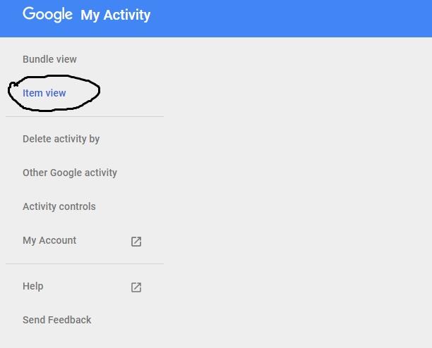 item view google
