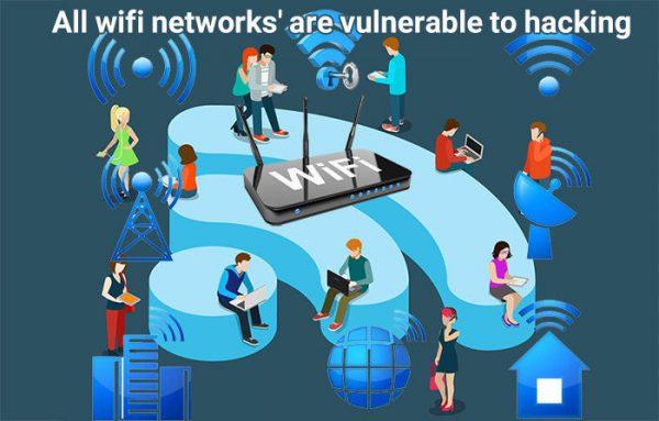 تمامی شبکه های وای فای برای هک شدن آسیب پذیرند